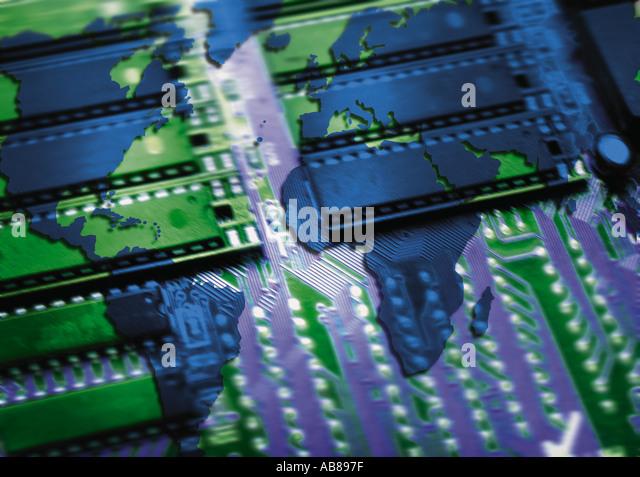 Global electronics - Stock Image