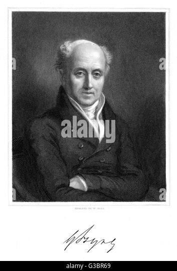 GEORGE BYNG of Wrotham Park political reformer         Date: 1764 - 1847 - Stock Image