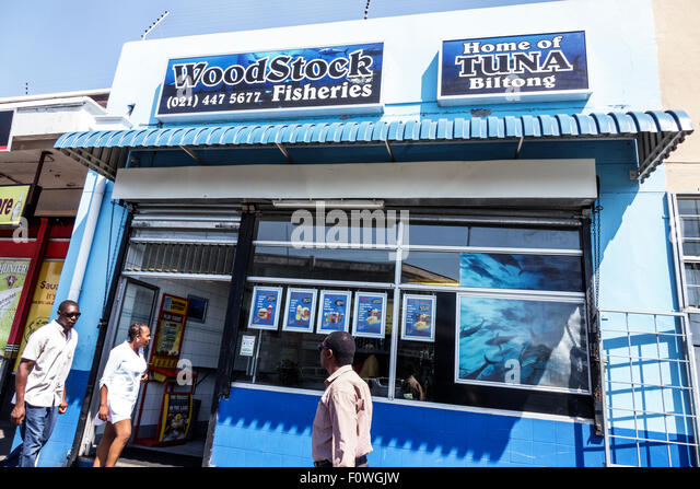 South Africa African Cape Town Woodstock Victoria Road Woodstock Fisheries fish market - Stock Image