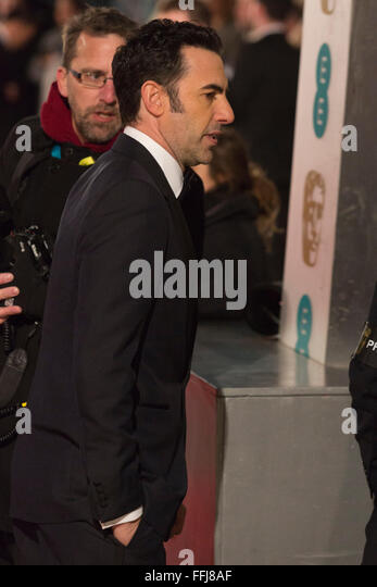 London, UK. 14 February 2016. Sasha Baron Cohen. Red carpet arrivals for the 69th EE British Academy Film Awards, - Stock Image