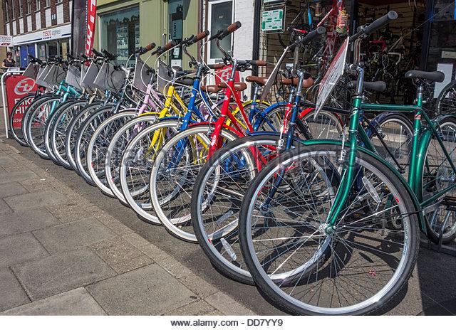 bikes row stock photos bikes row stock images alamy. Black Bedroom Furniture Sets. Home Design Ideas