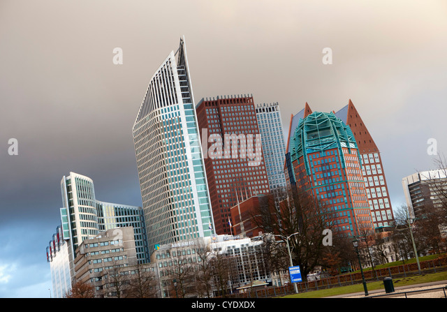 The Netherlands, Den Haag, The Hague, View of modern architecture. Mainly ministries. - Stock Image