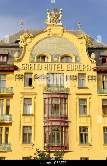 grand hotel europe on wenceslas stock photos grand hotel europe on wenceslas stock images alamy. Black Bedroom Furniture Sets. Home Design Ideas