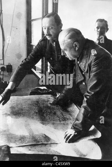 General Johannes Friessner with a Hungarian general, 1944 - Stock Image