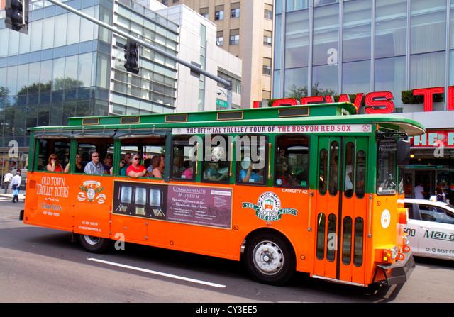 Massachusetts Boston Tremont Street Old Town Trolley Tours - Stock Image