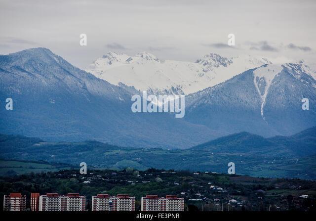 Caucasus Mountains - Stock Image