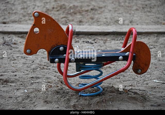 Rocking horse - Stock Image