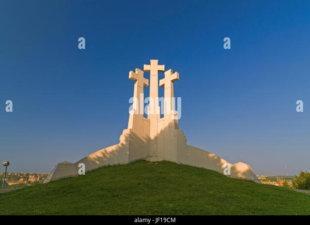 Three Crosses Hill Vilnius Lithuania - Stock Image