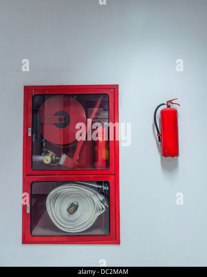 Many devices prepared for use in firefighting - Stock Image