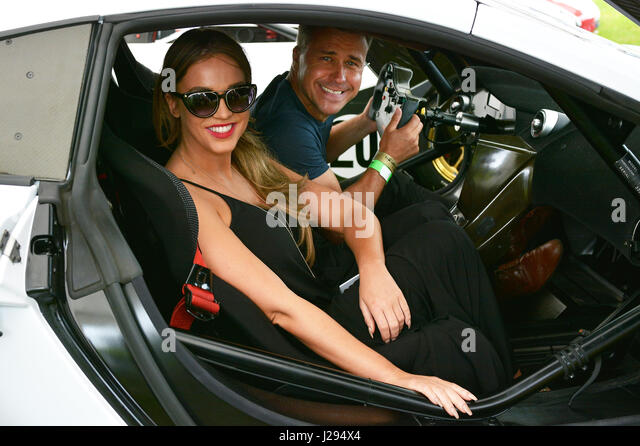 The Dreamcar Event with special guest Vicky Pattison created by  owner and  enthusiastic members of Leeds Super - Stock Image