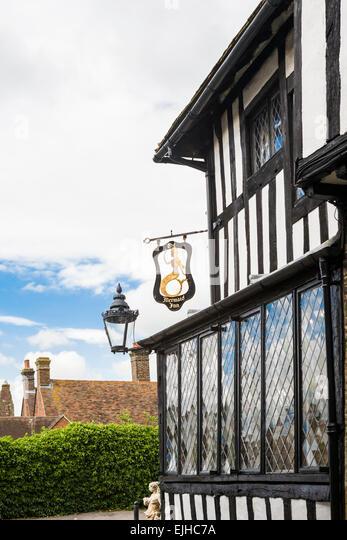 Mermaid Inn, town of Rye, Sussex, England - Stock Image