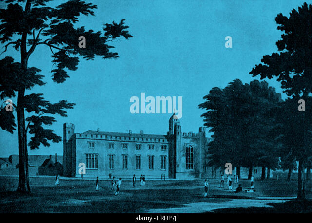 Rugby school - at the time when Matthew Arnold  was the headmaster of Rugby School. 24 December 1822 ? 15 April - Stock-Bilder