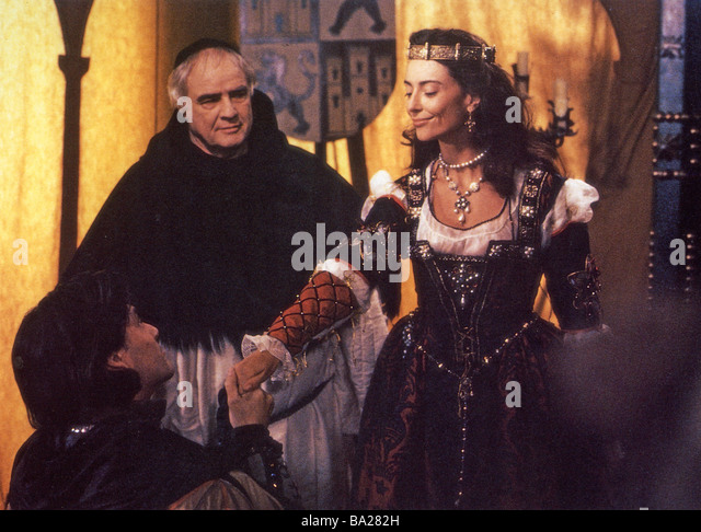 CHRISTOPHER COLUMBUS : THE DISCOVERY 1992 Rank film with Marlon Brando at left as the Friar - Stock-Bilder
