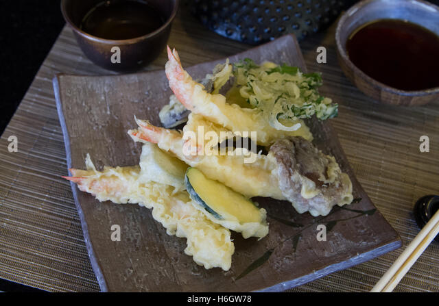 Japanese vegetable tempura - Stock Image