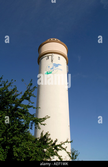 Water tower (chateau d'eau), Martizay, Indre, France. - Stock Image