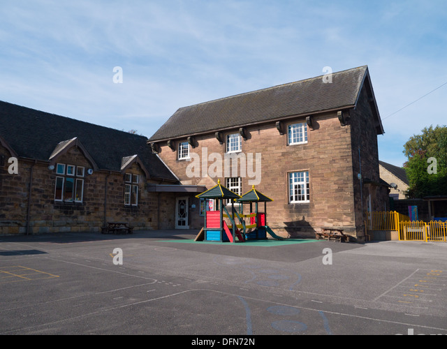 Infant and Primary School in Holbrook, Derbyshire, United Kingdom, UK - Stock Image