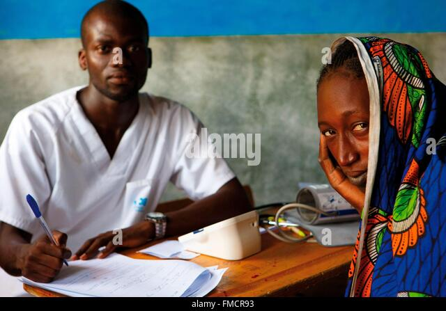 Senegal, Sahel, Ferlo region, Widou Thiengoly, Consultation clinic - Stock Image