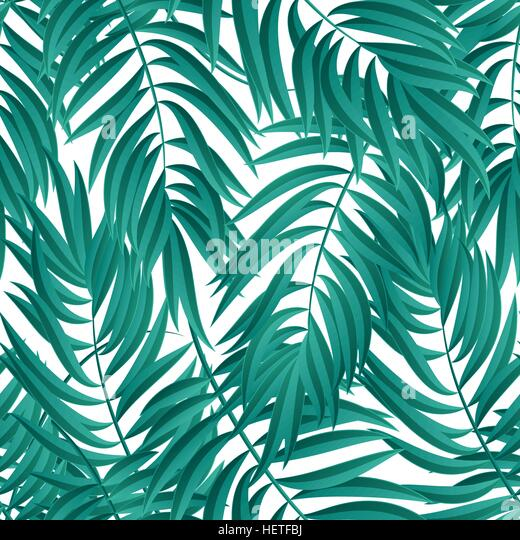 Tropical Palm leaves. Vector seamless. Tropical Palm leaves. Tropic palm. Tropical Palm leaf. Green tropic palm. - Stock-Bilder