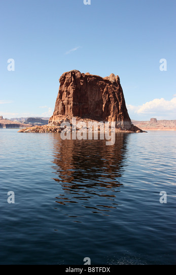 Boat trip on Lake Powell to Rainbow Bridge - Stock Image