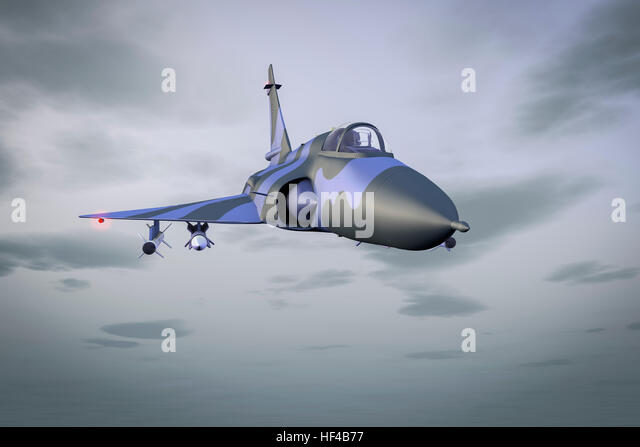 A jet fighter at the combat air patrol - Stock Image