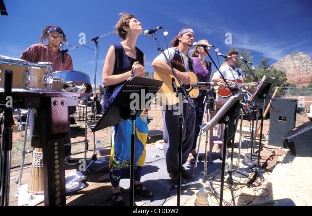 United States, Arizona, Sedona, New Age capital, Earth Day - Stock Image