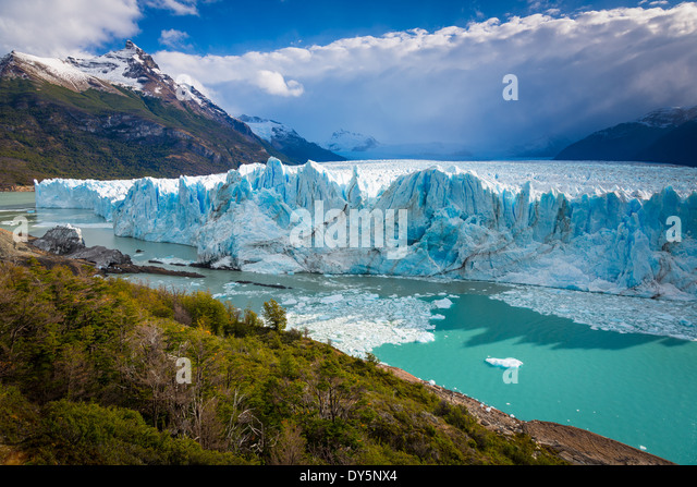 The Perito Moreno Glacier is a glacier located in the Los Glaciares National Park in southwest Santa Cruz province, - Stock Image