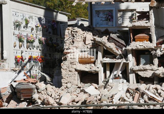 Norcia (Perugia) 6.5 magnitude earthquake hit central Italy on Sunday 30 October, causing no victims, but destroying - Stock-Bilder