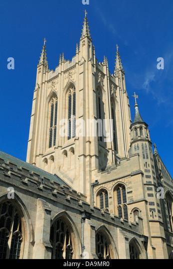 Bury St. Edmunds, Cathedral tower, Suffolk, England UK - Stock Image