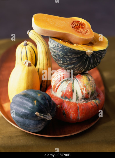 Selection of squashes - Stock Image