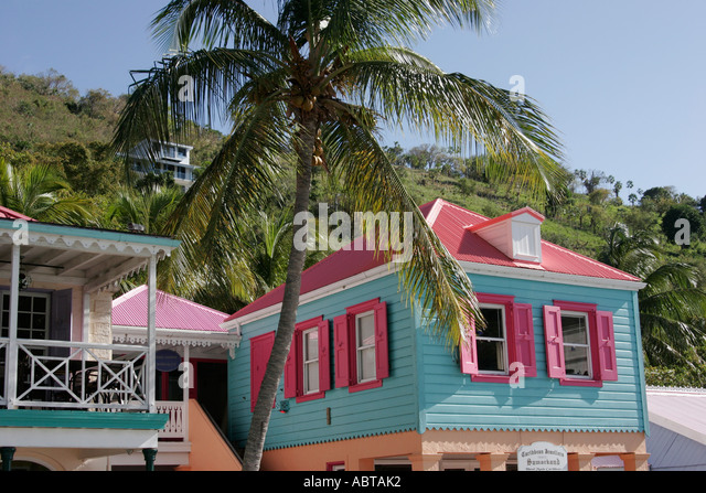 BVI Tortola Frenchman's Cay Soper's Hole Wharf and Marina - Stock Image