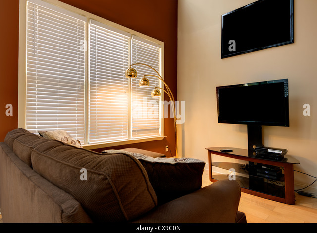 Den in a home interior - Stock Image