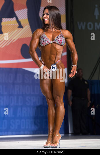 March 3rd 2017, Columbus, OH, USA; Oksana Grishina (14) competes in Fitness International as part of the Arnold - Stock-Bilder