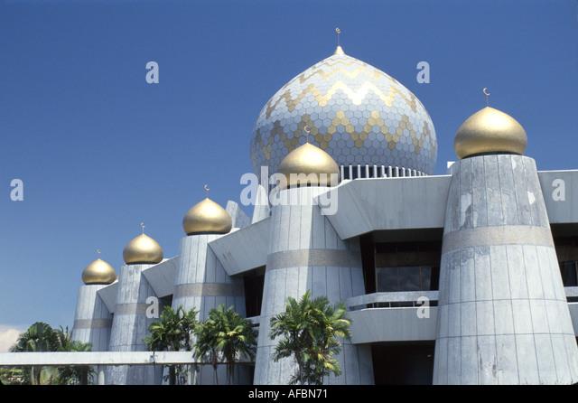 Malaysia Borneo Sabah Kota Kinabalu Masjid Sabah Mosque built 1975 Muslim religion - Stock Image