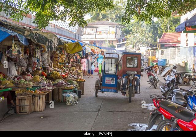 Philippines, Luzon, Sorsogon Province, Donsol, life scene at the market - Stock-Bilder
