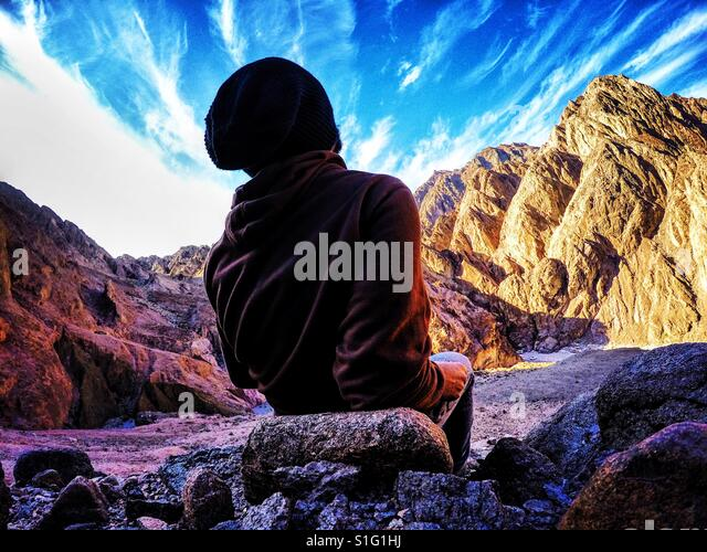 Sinai chillin' - Stock-Bilder