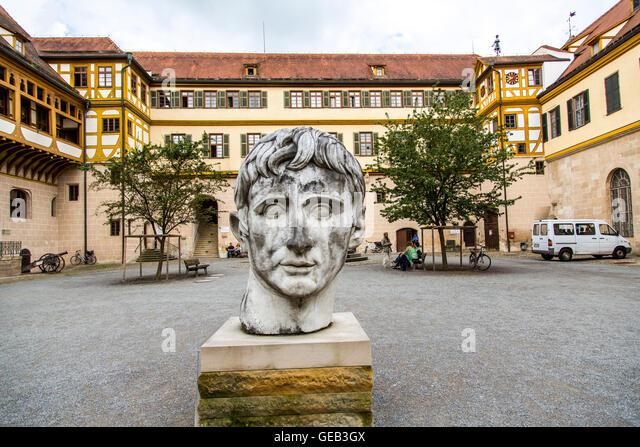 Old Town of Tübingen, castle Hohentübingen, part of the University, Museum Ancient cultures, Baden-Württenberg, - Stock-Bilder