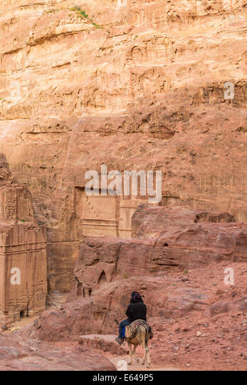 Sunset, Petra, Jordan - Stock Image
