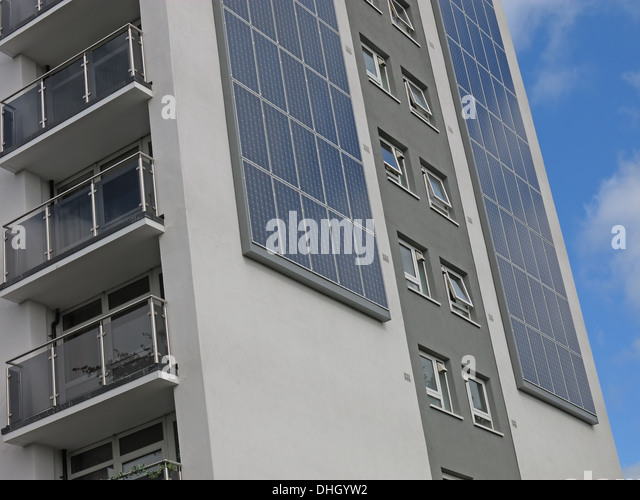 Austin House Walsall eco tower block with Solar PV , West Midlands , England , UK WS4 2AF - Stock Image