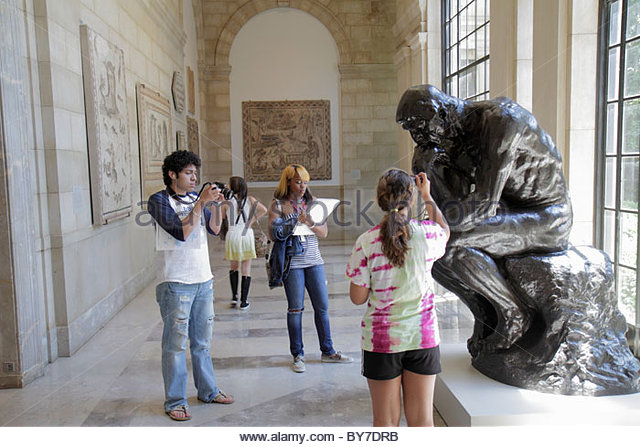 Baltimore Maryland Baltimore Museum of Art Wyman Park gallery exhibition collection sculpture Rodin The Thinker - Stock Image