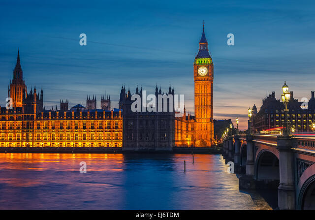 Big Ben and Houses of parliament, London - Stock-Bilder