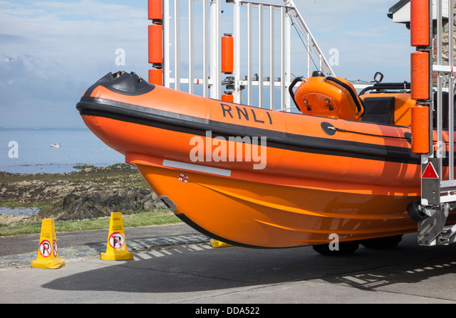 Atlantic 85 lifeboat, 'Louis Simson' of the RNLI station at Skerries, county Dublin, Ireland - Stock Image