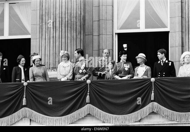 Princess diana trooping of the colour stock photos for Queen on balcony