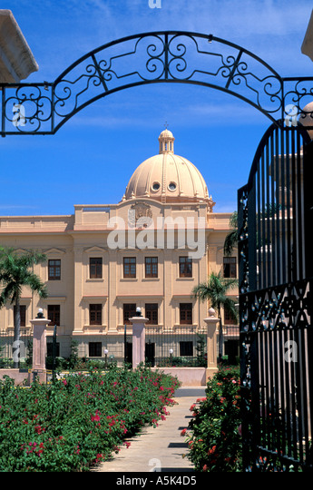 Dominican Republic Santo Domingo the National Palace national symbol iconic image - Stock Image