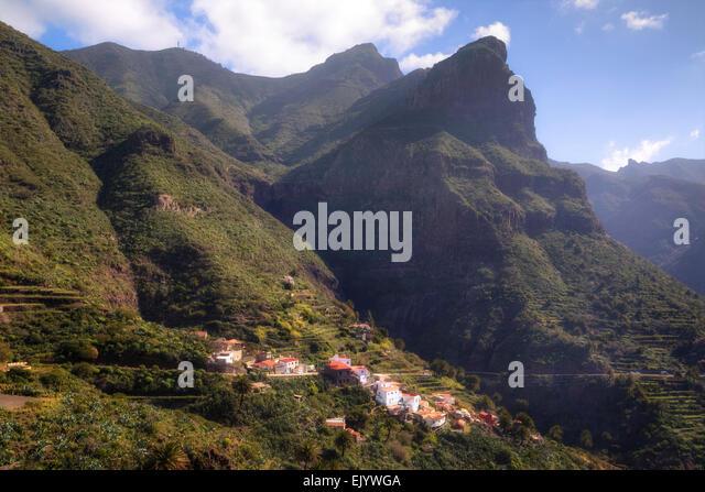 Tenerife, Masca, Teno Massif, Canary Islands, Spain - Stock Image