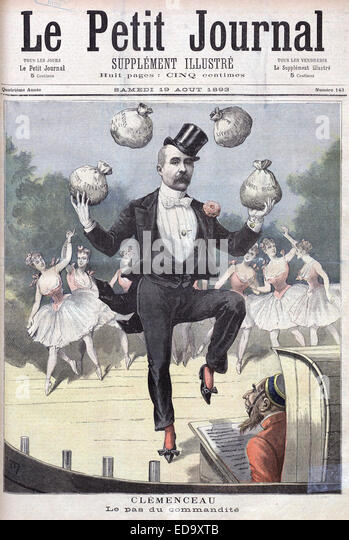 GEORGES CLEMENCEAU is lampooned by the French illustrated weekly as a candidate in the 1893 legislative elections - Stock Image