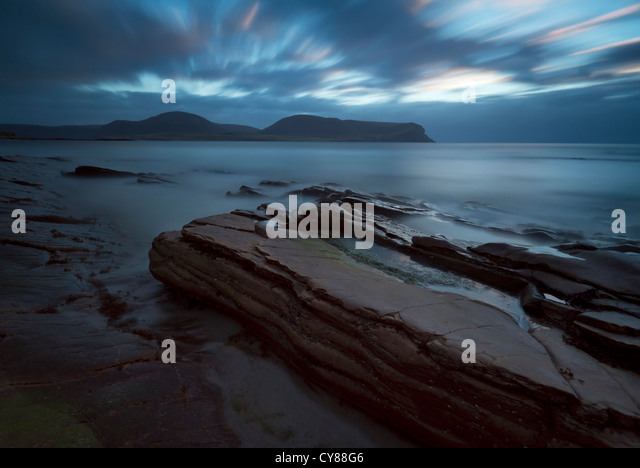 Orkney Islands seascape looking towards Hoy - Stock Image