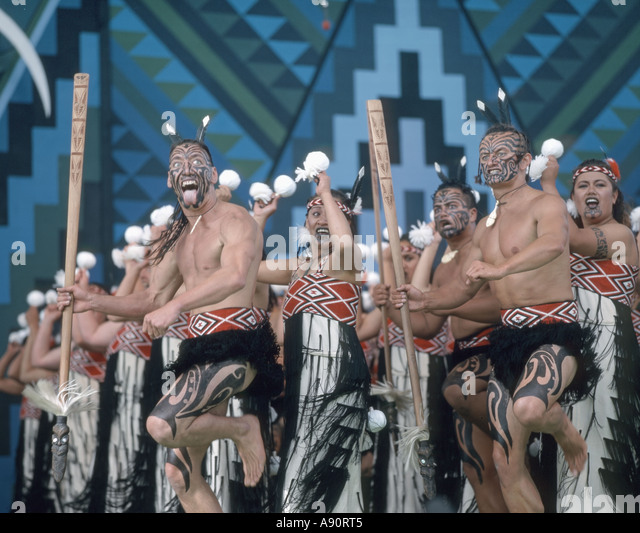 New Zealand north island Rotorua Arts Festival dance and singing performance - Stock Image