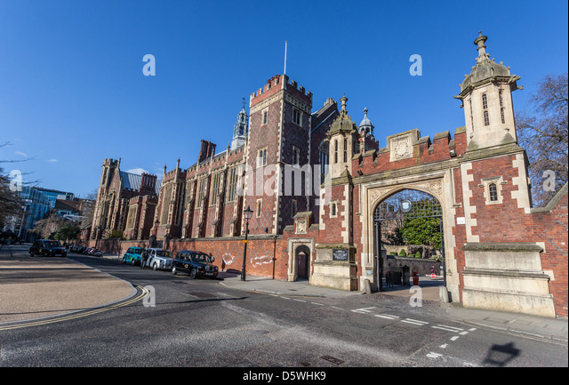 The Gate House at the Honourable Society of Lincoln's Inn, Lincolns Inn, Newman's Row, Holborn, London, - Stock Image