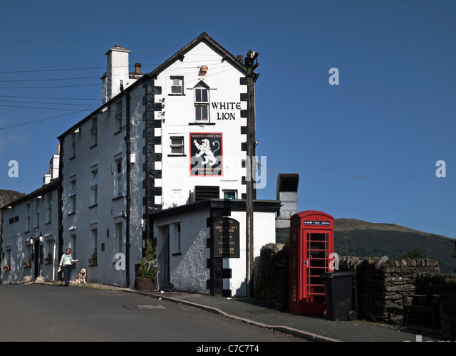 White Lion, Patterdale, Lake District, Cumbria - Stock Image