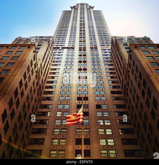 USA, New York State, New York City, Low angle view of Chrysler building - Stock Image